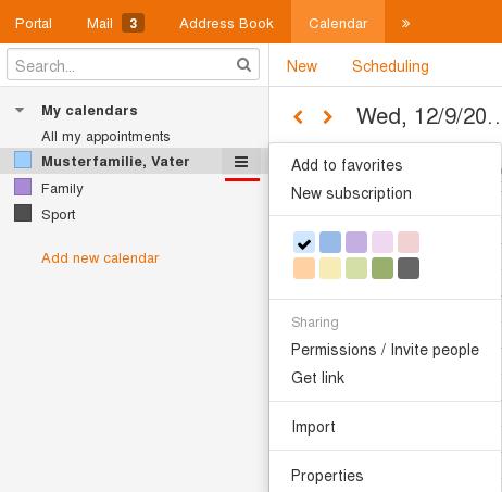 set color for calendar