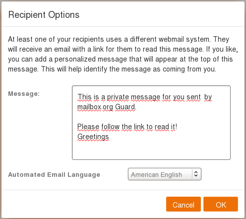 Send encrypted e-mails with Guard - Private Clients - mailbox org