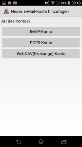 Setup with K-9 Mail for Android - Business Clients - mailbox org