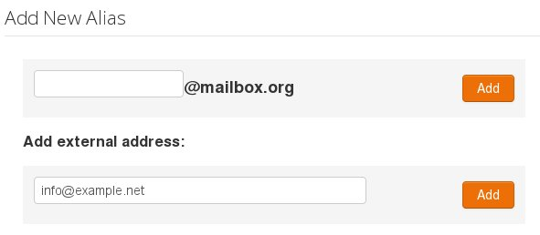 Using your own domain with mailbox.org