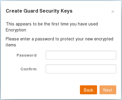 enter your Guard security password
