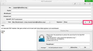 encrypt email with GPGTools