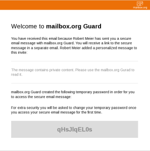 second message temporary mailbox