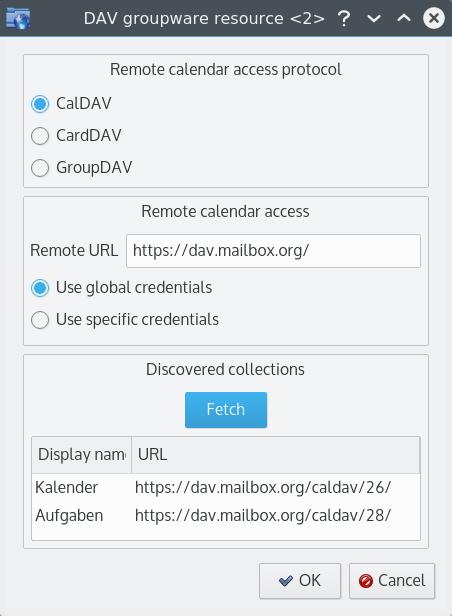 DAV groupware resource